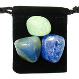 Throat Chakra Tumbled Crystal Healing Set