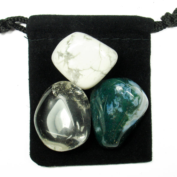 Crown Chakra Tumbled Crystal Healing Set