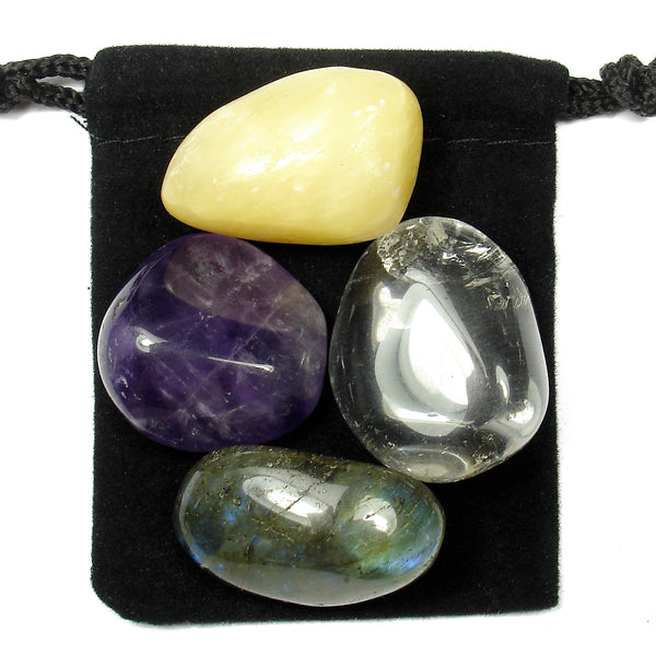 Higher Consciousness Tumbled Crystal Healing Set