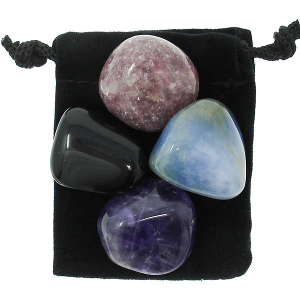 Obsessive Compulsive Disorder (OCD) Relief Tumbled Crystal Healing Set