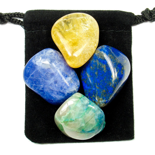 Thyroid Manager Tumbled Crystal Healing Set