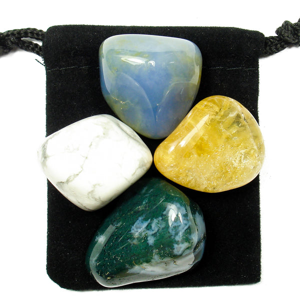 Verbal Communication Tumbled Crystal Healing Set