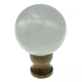 Satin Spar Selenite Crystal Sphere (50-55mm) with Stand