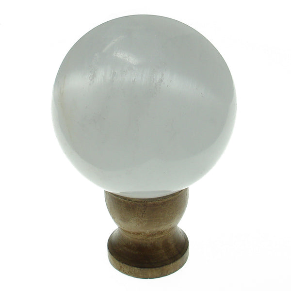 Satin Spar Selenite Crystal Sphere (67mm) with Stand