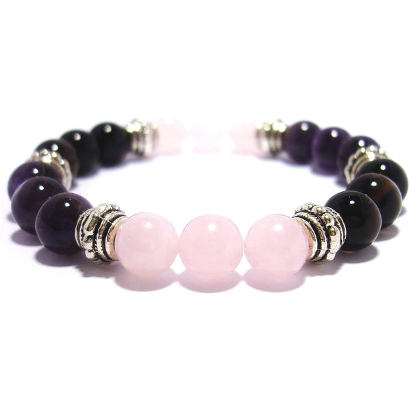 Breast Cancer Fighter 8mm Crystal Intention Bracelet