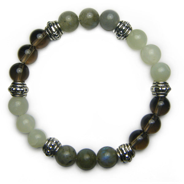 Releasing the Past 8mm Crystal Intention Bracelet