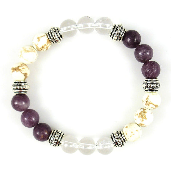Crown Chakra Balancer 8mm Crystal Intention Bracelet
