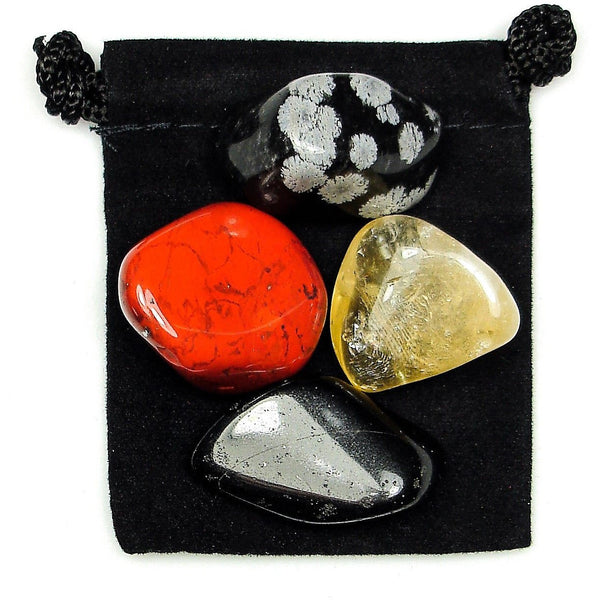 Balance of Mind, Body, & Spirit Tumbled Crystal Healing Set