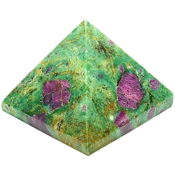 Zoisite with Ruby Crystal Pyramid