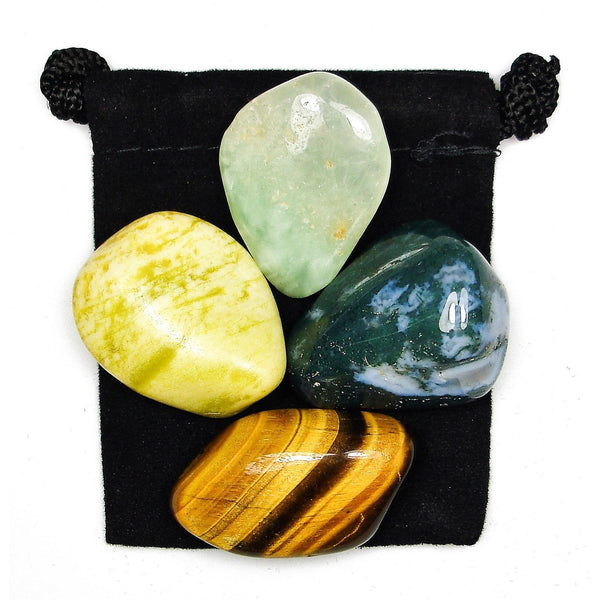 Nature & Earth Connection Tumbled Crystal Healing Set