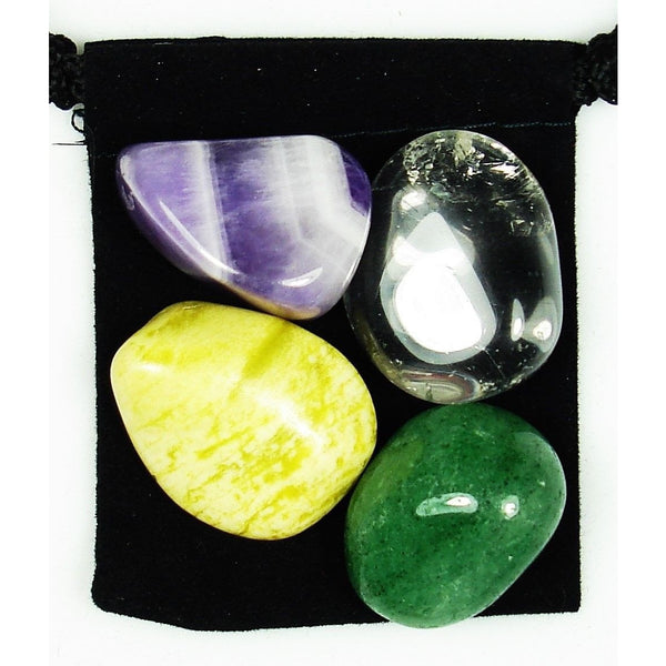 Aura Healing & Repair Tumbled Crystal Healing Set