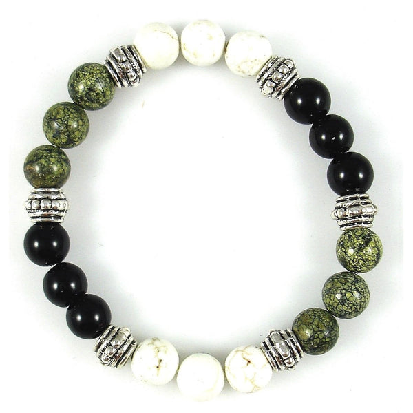 Cholesterol Control 8mm Crystal Intention Bracelet