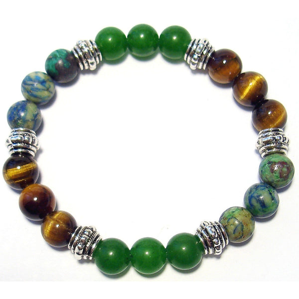 Level Head 8mm Crystal Intention Bracelet