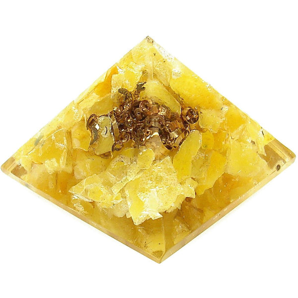 Orgone Yellow Aventurine Crystal Pyramid