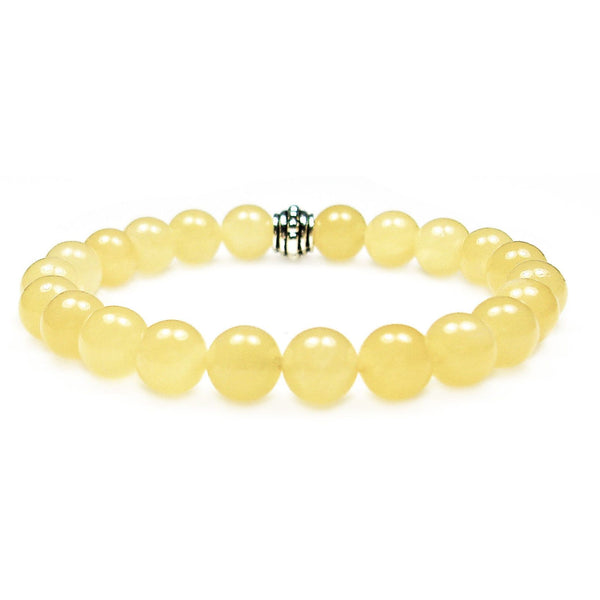Calcite 8mm Round Crystal Bead Bracelet