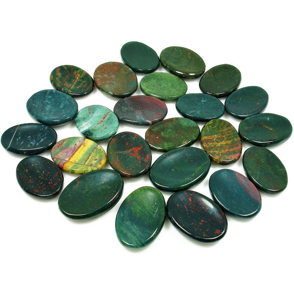 Bloodstone Crystal Worry Stone