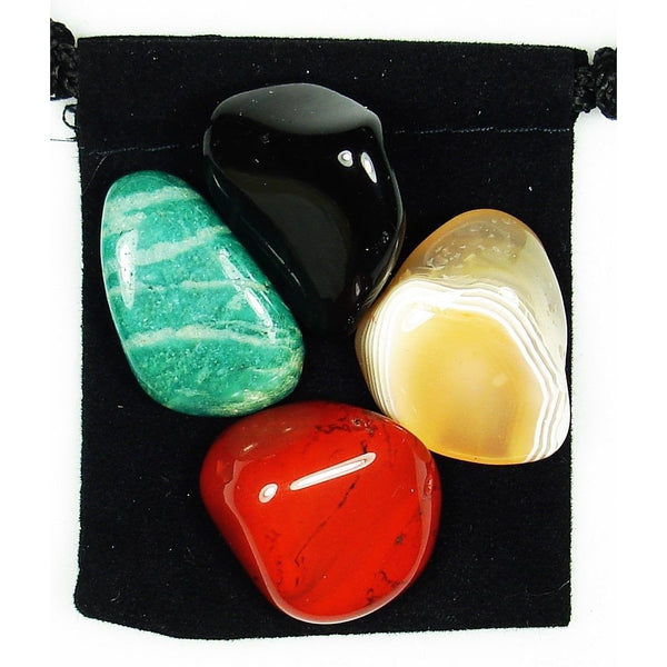 Universal Awareness Tumbled Crystal Healing Set