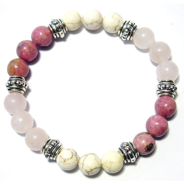 Manifest Love 8mm Crystal Intention Bracelet