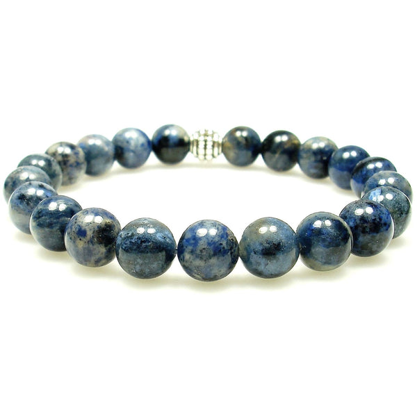 Dumortierite 8mm Round Crystal Bead Bracelet