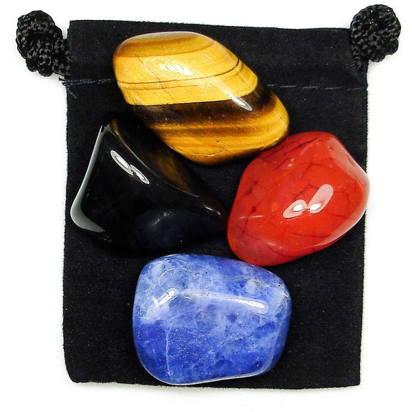 Energetic Grounding Tumbled Crystal Healing Set