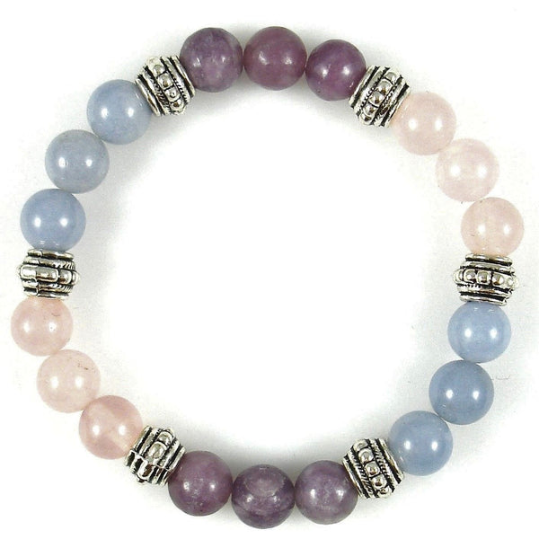 Alzheimer's / Dementia 8mm Crystal Intention Bracelet