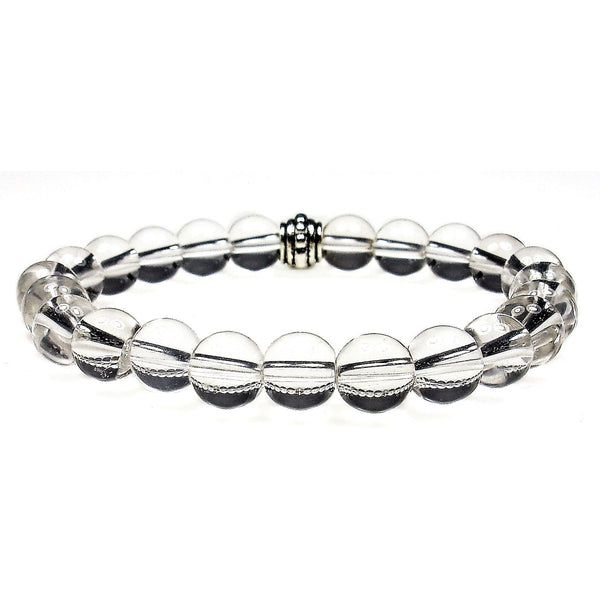 Clear Quartz 8mm Round Crystal Bead Bracelet