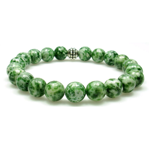 Tree Agate 8mm Round Crystal Bead Bracelet