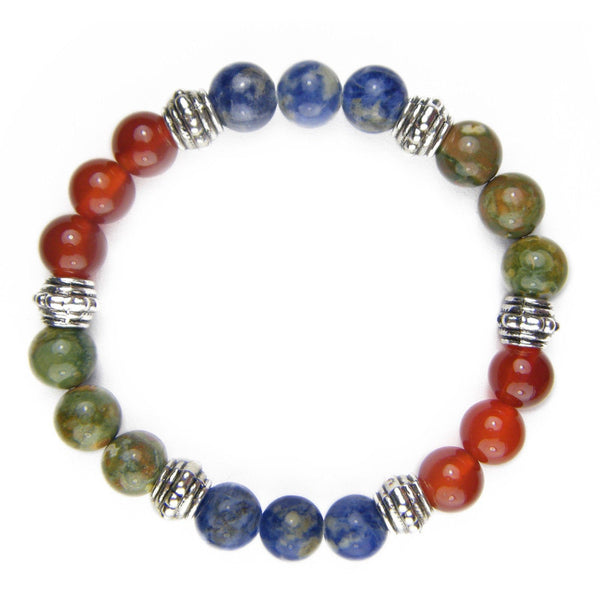 Present in the Now (Mindfulness) 8mm Crystal Intention Bracelet