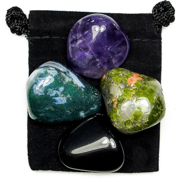 Energetic Blocks Tumbled Crystal Healing Set