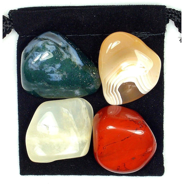 Digestive System Regulator Tumbled Crystal Healing Set