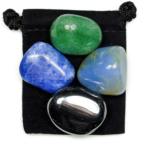 Harmony of Mind, Body, & Soul Tumbled Crystal Healing Set