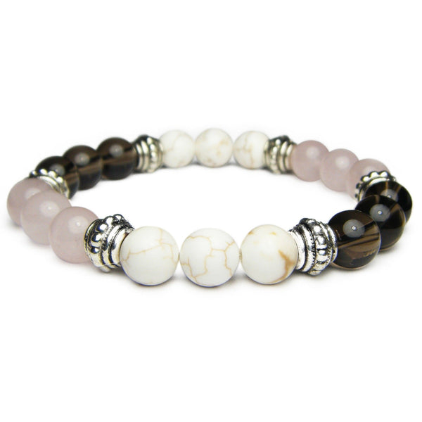 Positive Thoughts 8mm Crystal Intention Bracelet