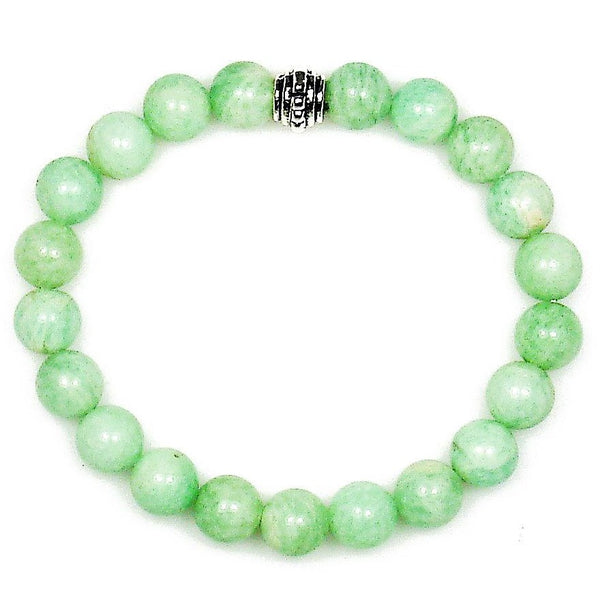 Amazonite 8mm Round Crystal Bead Bracelet