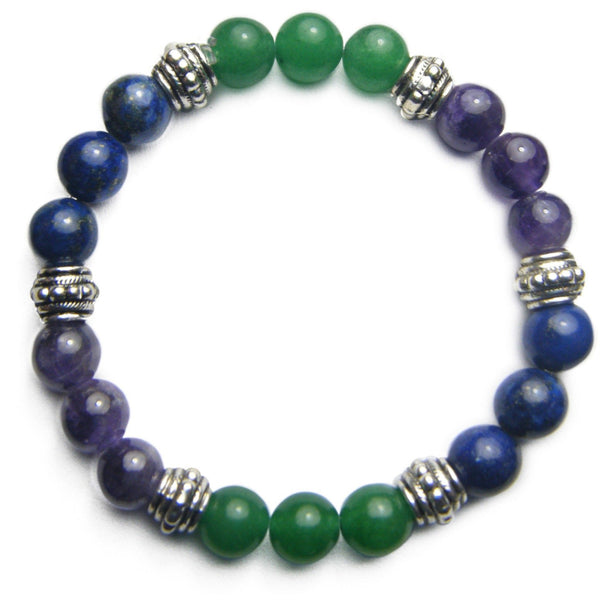 Overcoming Grief 8mm Crystal Intention Bracelet