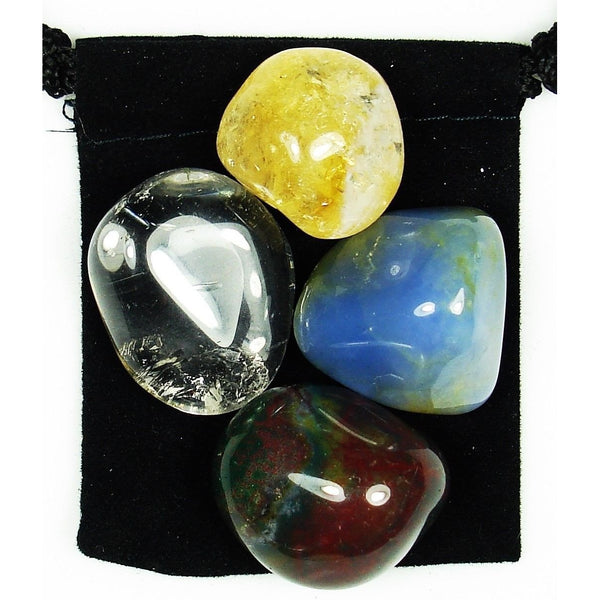 Spleen Health Tumbled Crystal Healing Set