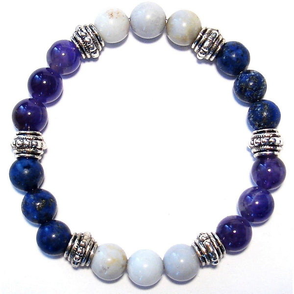 Anger Release 8mm Crystal Intention Bracelet