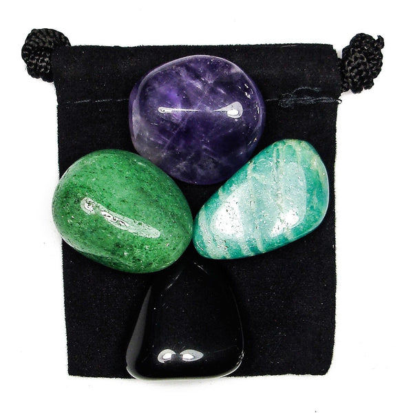 Geopathic Stress Tumbled Crystal Healing Set