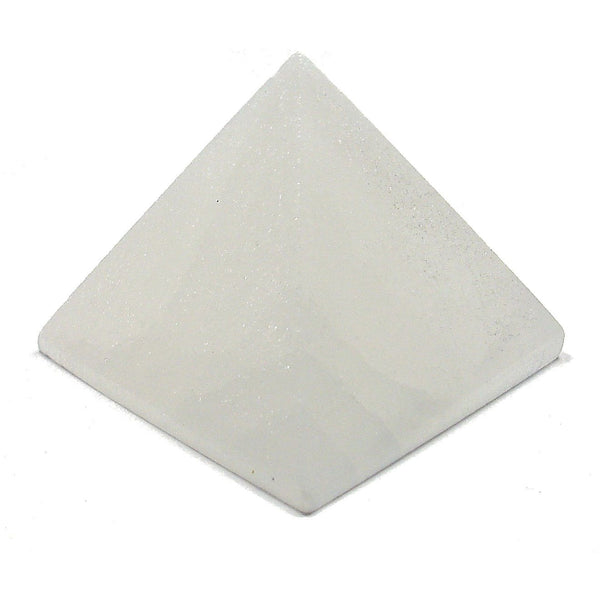 Satin Spar Selenite Crystal Pyramid