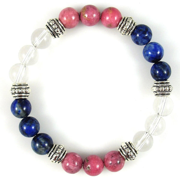 Multiple Sclerosis 8mm Crystal Intention Bracelet