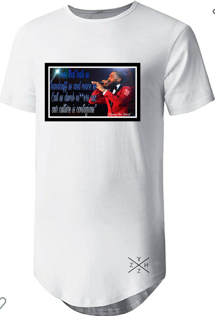 Nipsey the Great Scoop Tee *blm*