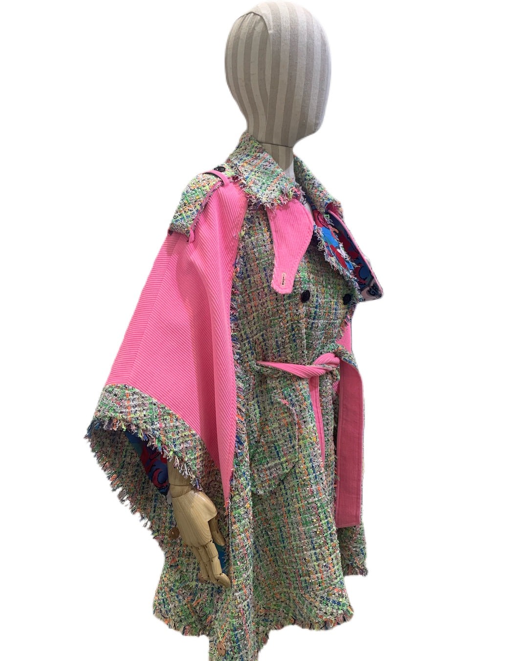 3NYCONCEPT.COM - Tweed Corduroy cape