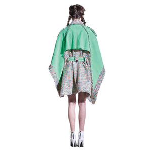 Tweed Corduroy cape