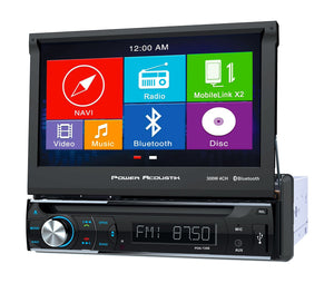 "Power Acoustik PDN-726B 1-DIN GPS Navigation, DVD, CD/MP3, AM/FM Receiver w/ Bluetooth & 7"" LCD"