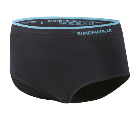 Women's Runderwear Low-Rise Hipsters 3 Pair Pack - Black