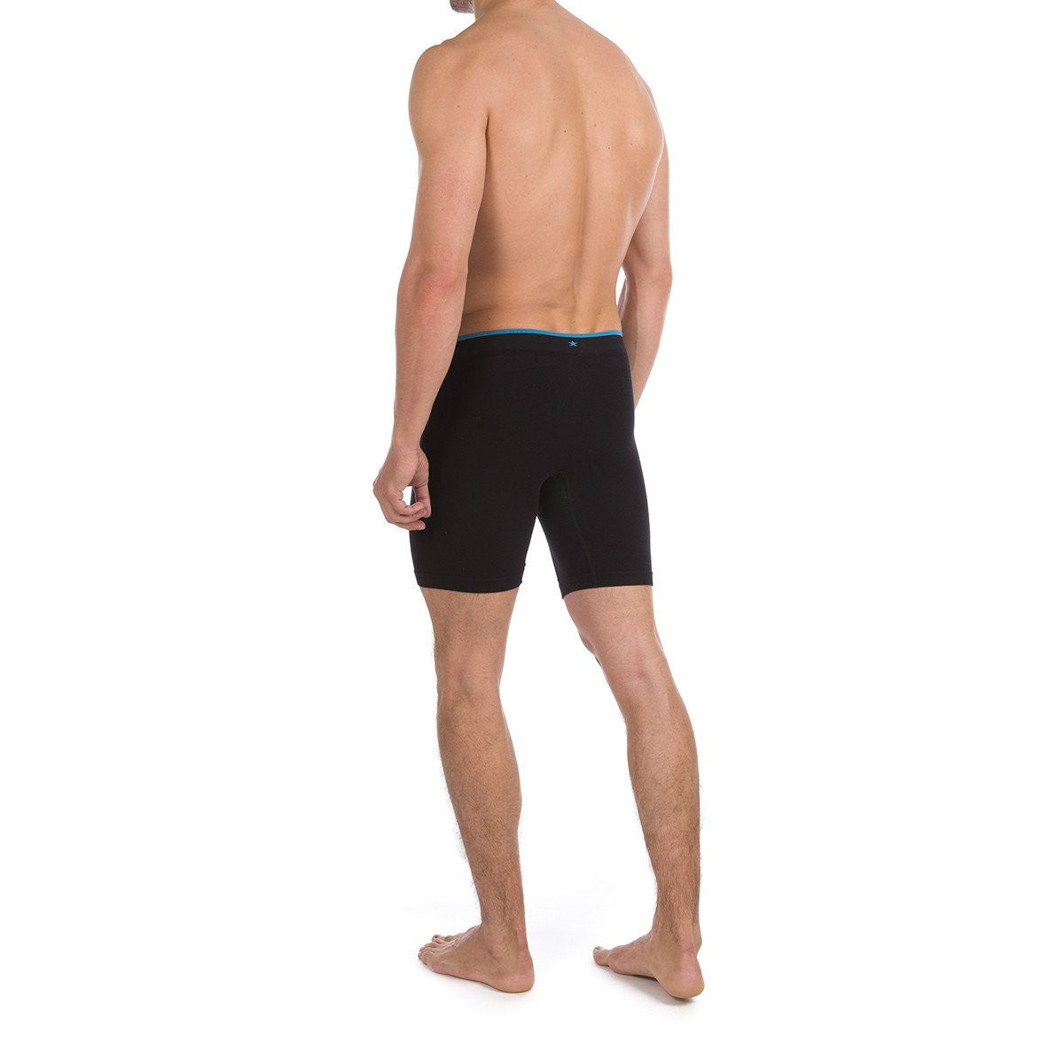 Men's Runderwear Long Boxer - Black