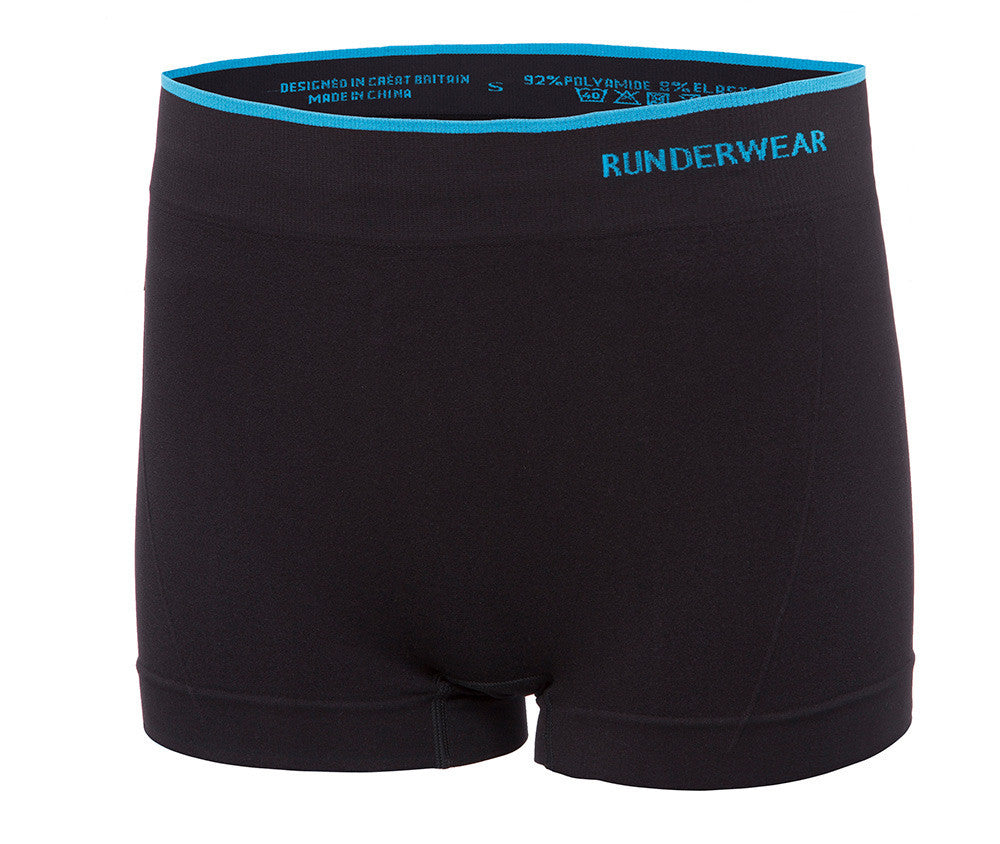 Women's Runderwear Hot Pants 3 Pair Pack - Black