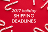 2017 Sommer Letter Co. Holiday Shipping deadlines!