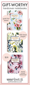 floral hardcover notebooks are the perfect Etsy gift ideas for her
