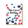 Spilled berries birthday card