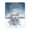 Snowy house art print